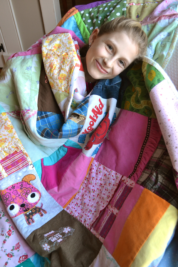 A Quilt for her 13th Birthday