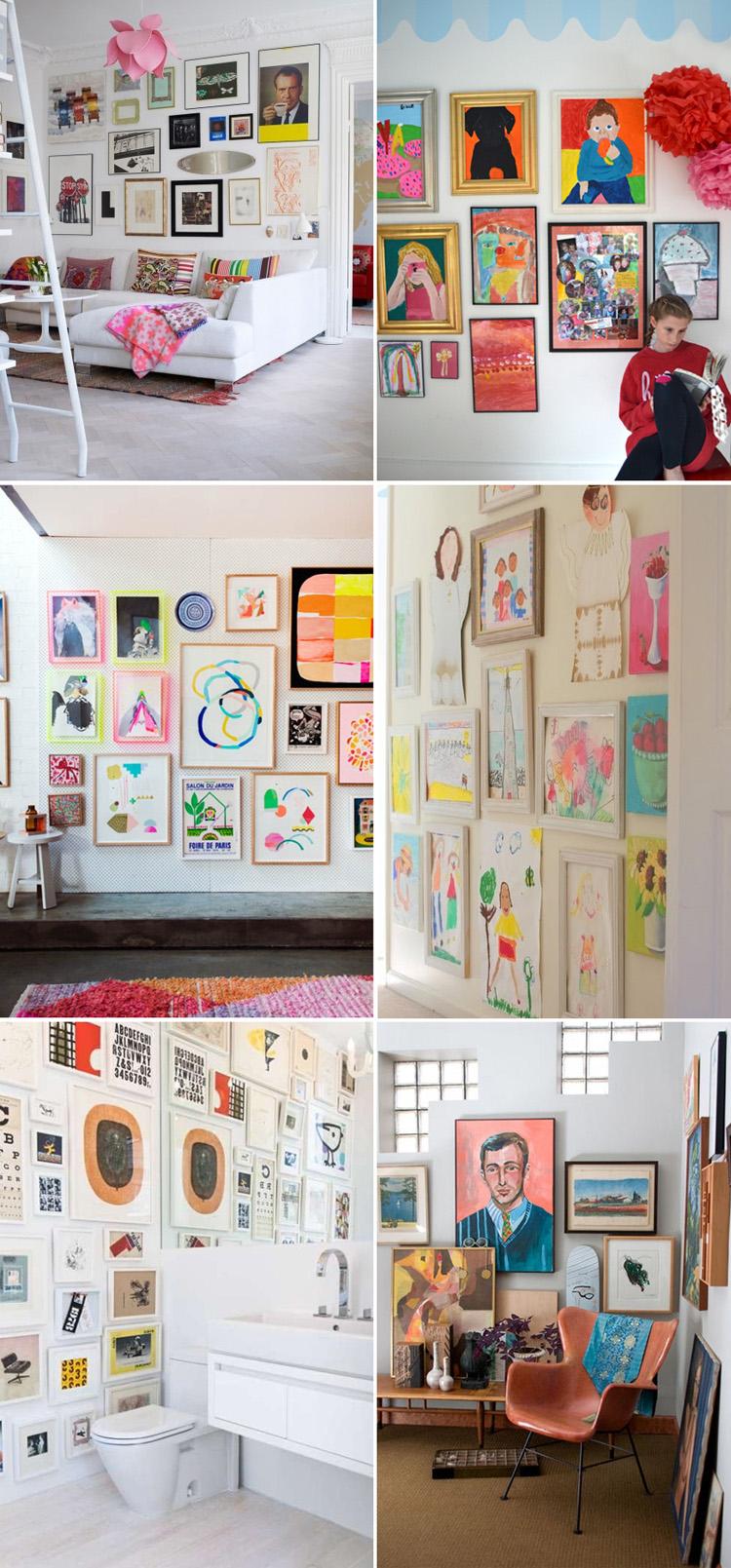 Gallery wall // kids art