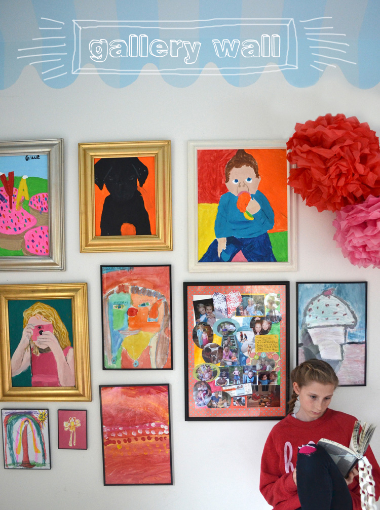 24 ideas for creating a gallery wall for kids art