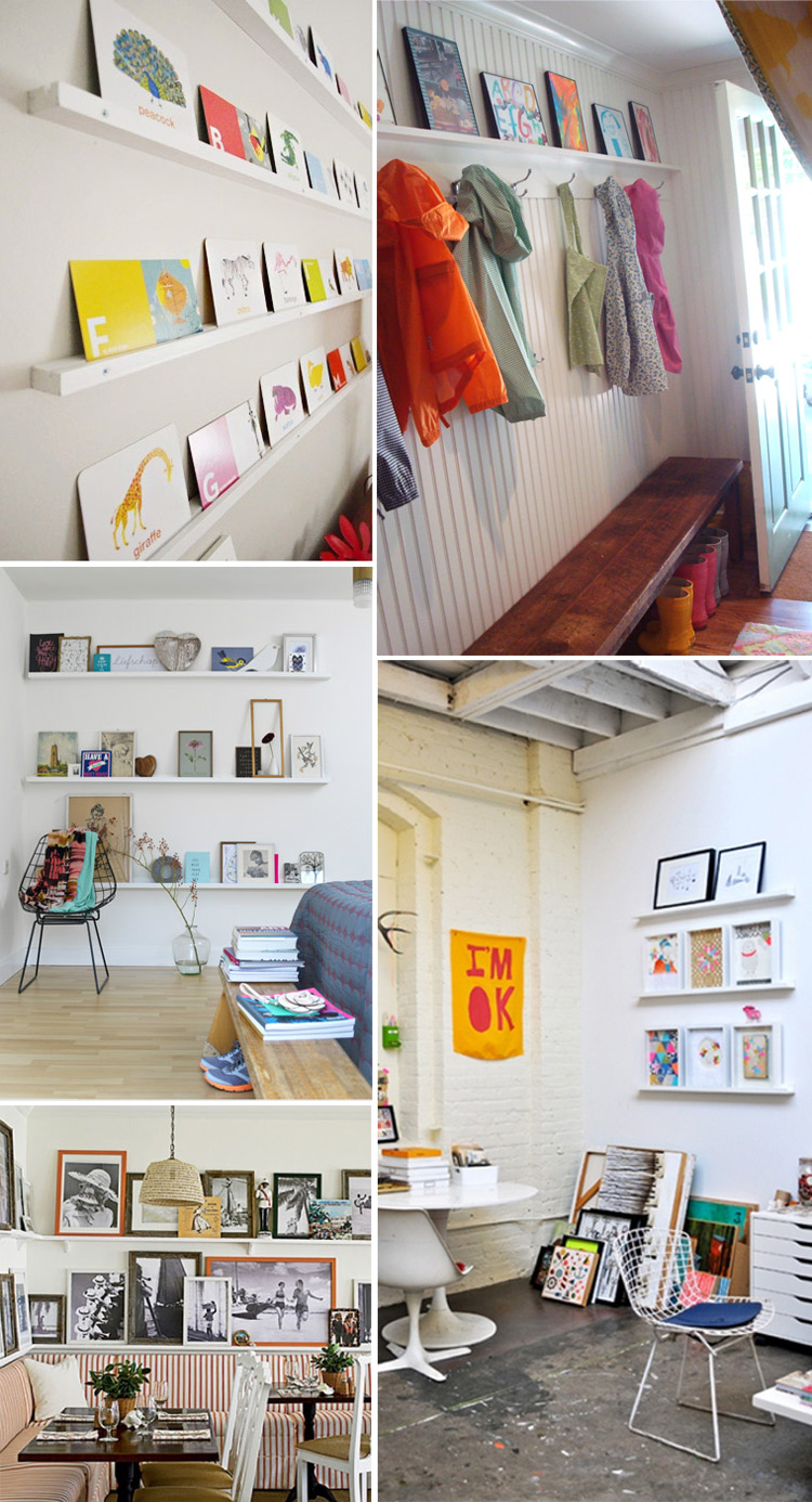 Gallery wall // Art on a ledge