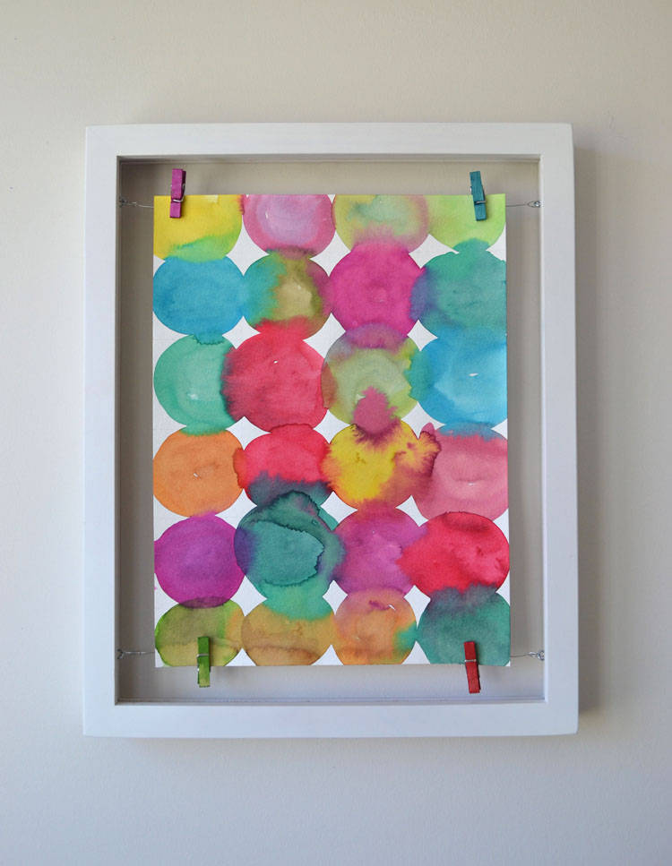 Kandinsky Inspired Circle Paintings + Floating Frame