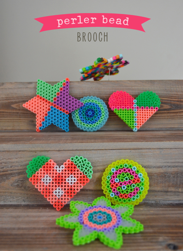 make a brooch for mom from melty beads ~ easy and colorful craft for kids ages 5 and up