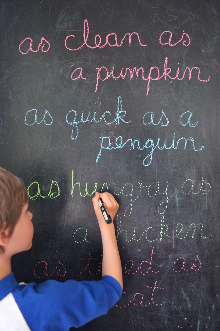 Montessori Letter Tracing