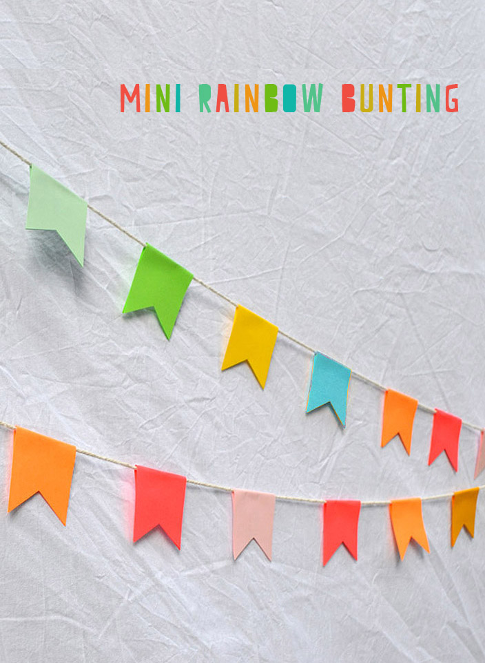 Mini Rainbow Garland