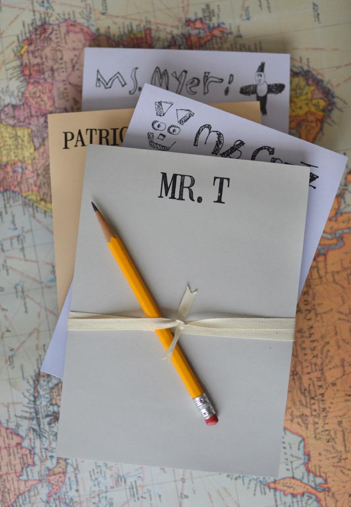 Notepads for Teacher