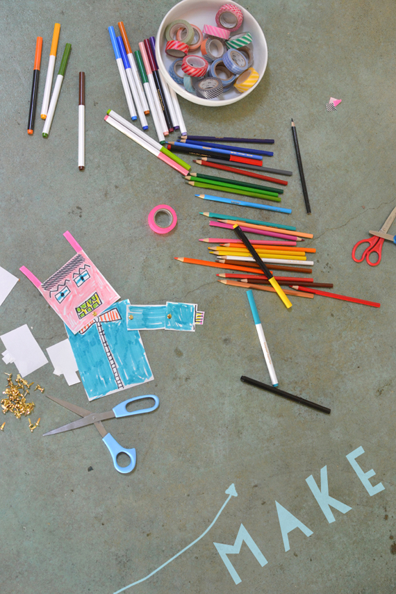 make paper robots with brass fasteners | art bar