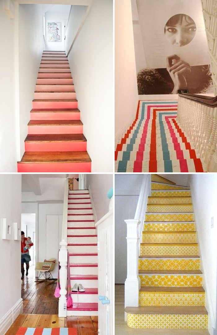 The painted staircase artbar - Painted stairs ideas pictures ...