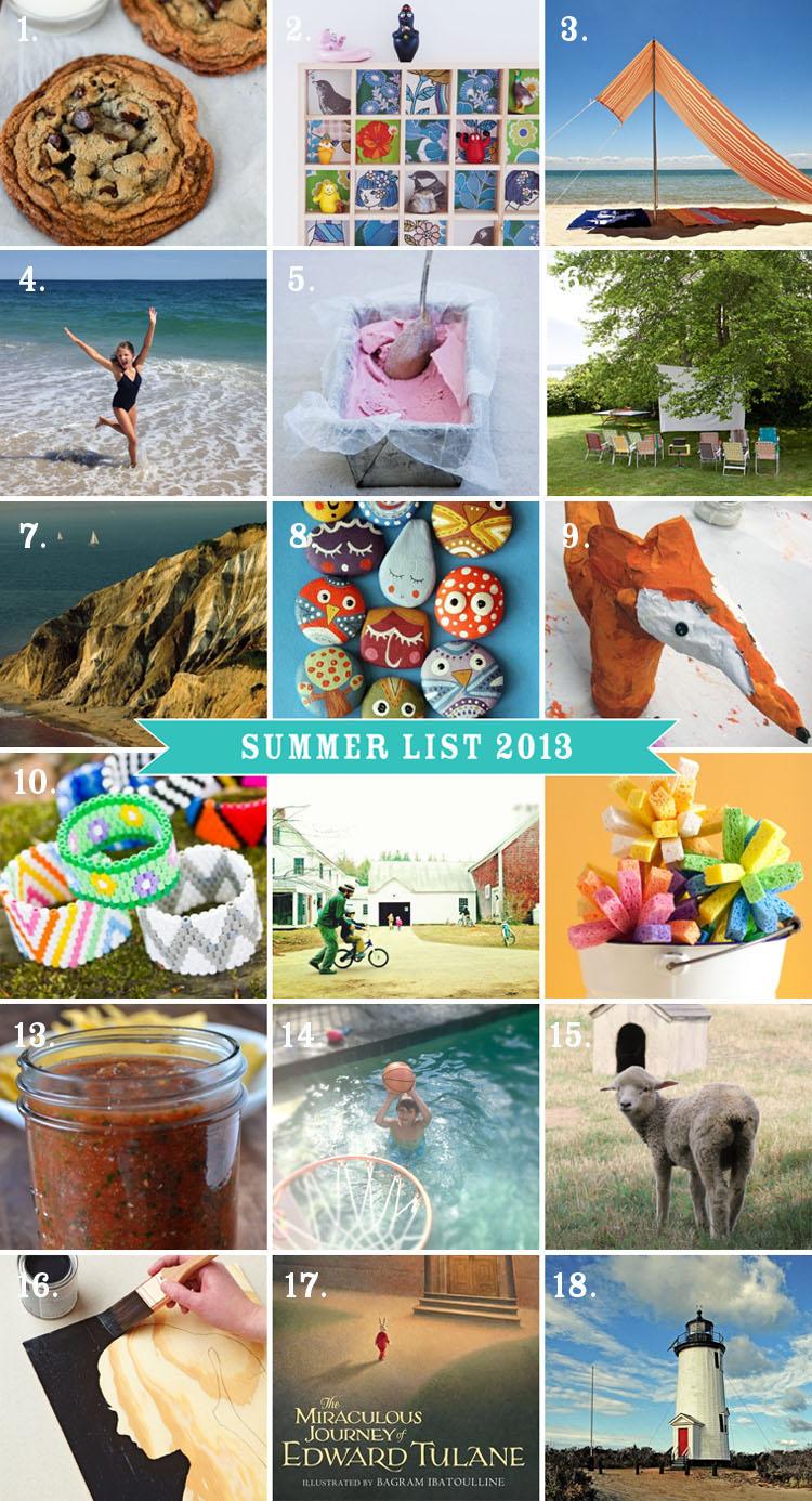 Summer List 2013