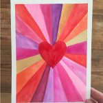 Heart burst paintings for Valentine's! A great art project for kids, teens, and adults alike.