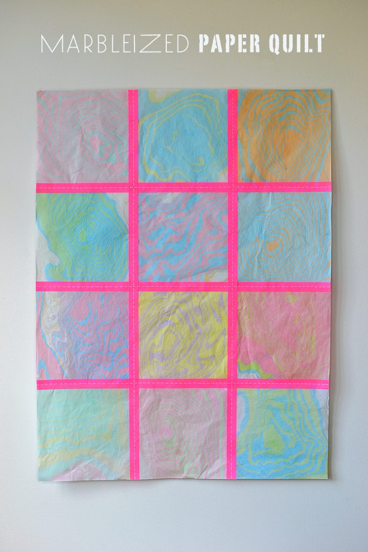 Marbleized Paper Quilt