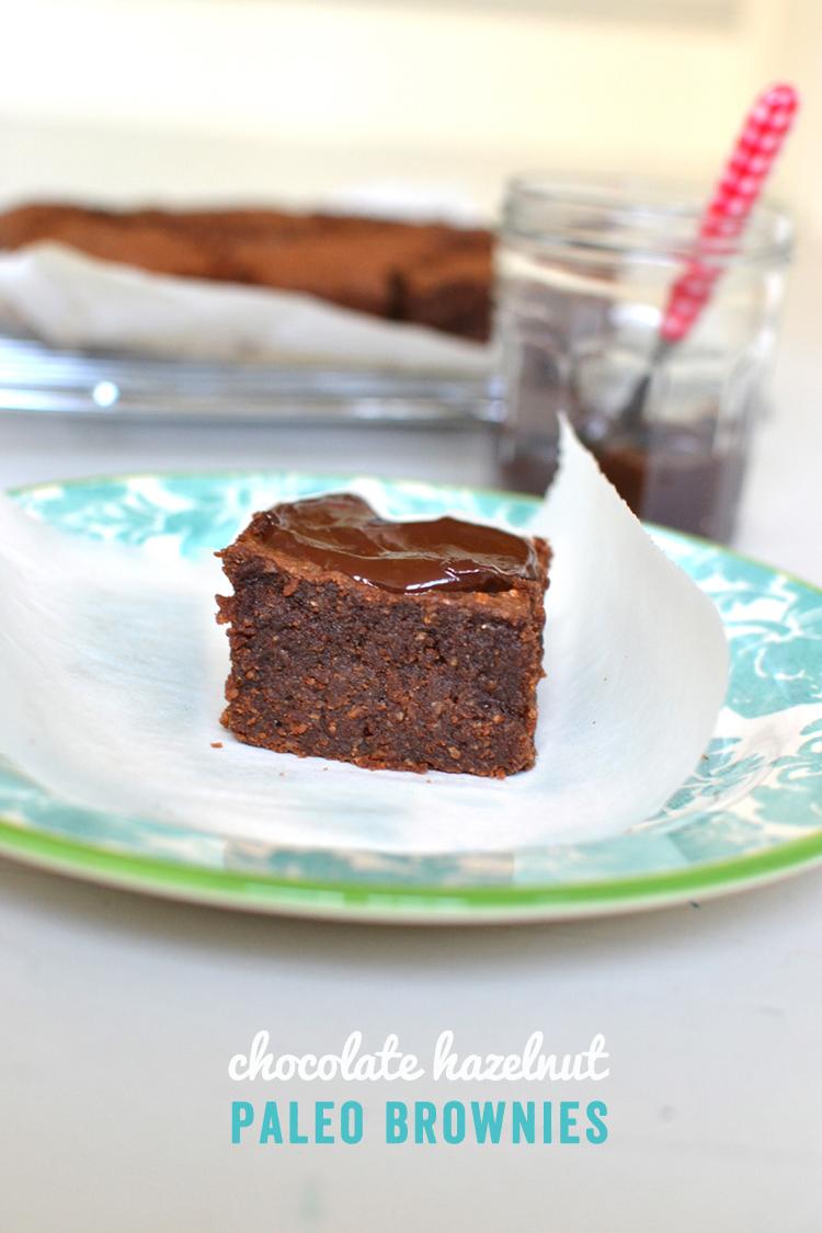 Chocolate Hazelnut Brownies // Paleo