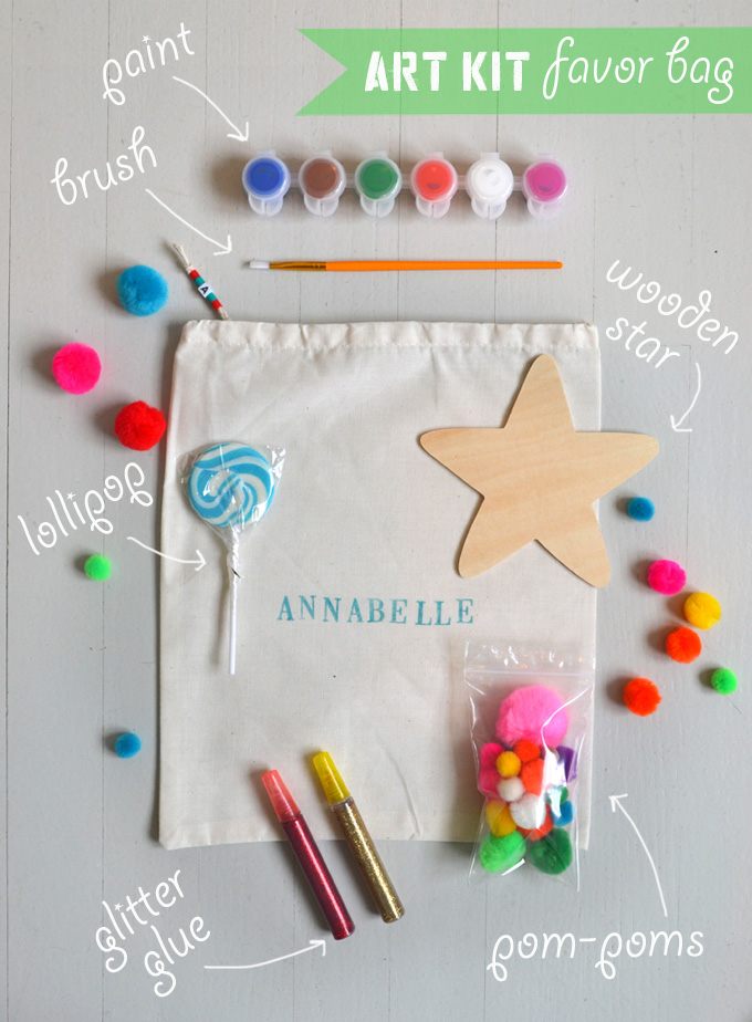 Make these DIY art kits as a party favor for kids.