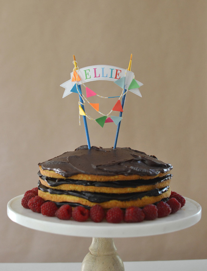 Make this artsy cake topper for your child's birthday.