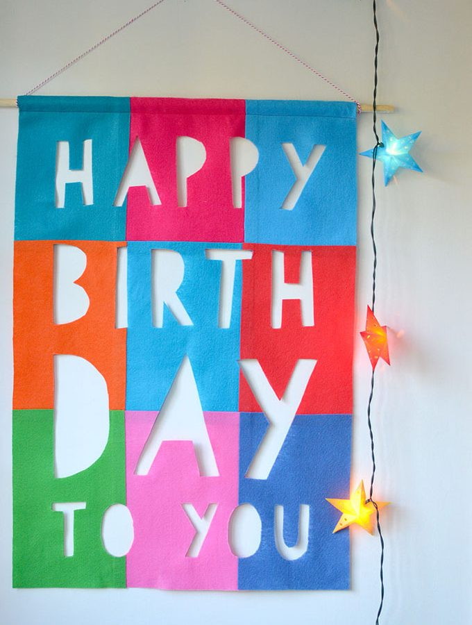 DIY Felt Birthday Banner