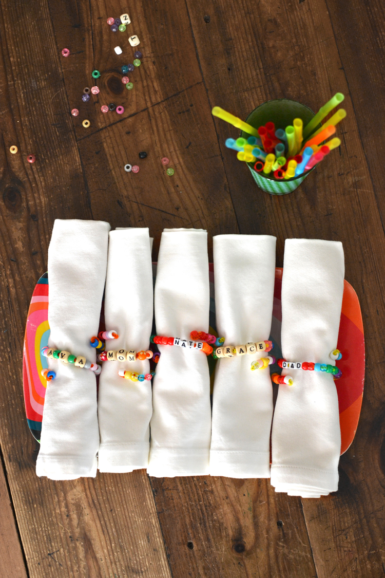 Pony Bead Napkin Rings