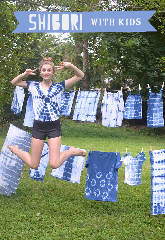 DIY Shibori Dye Technique with Kids