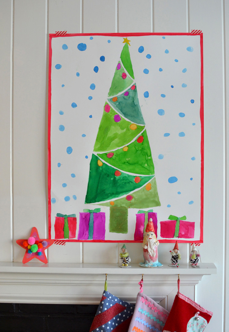 Giant Christmas Tree Paintings