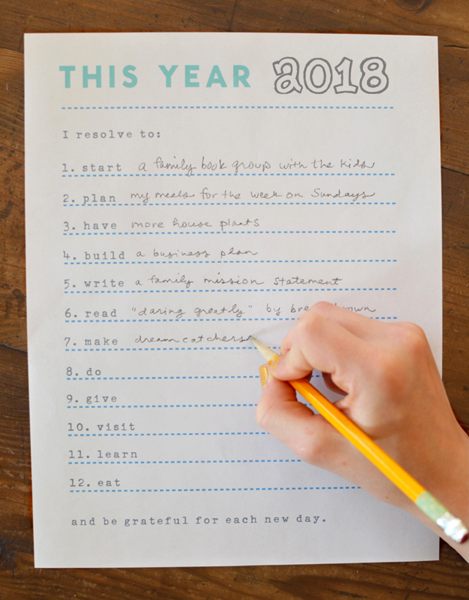 This Year // Resolutions