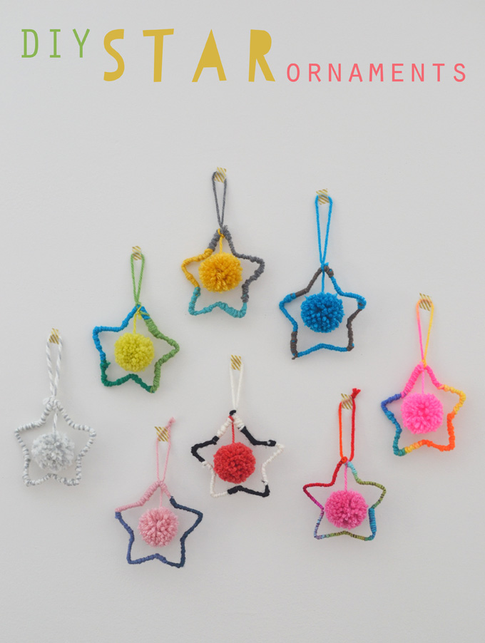 Yarn Star Ornaments