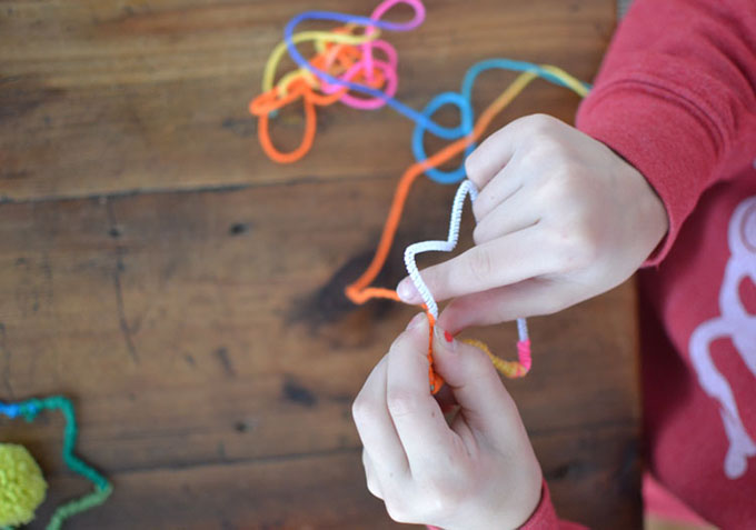Make the cutest star ornaments with yarn and wire.