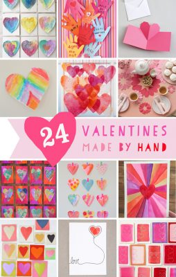 24 Homemade Valentines made by kids and grown-ups! Nothing says I LOVE YOU like homemade.