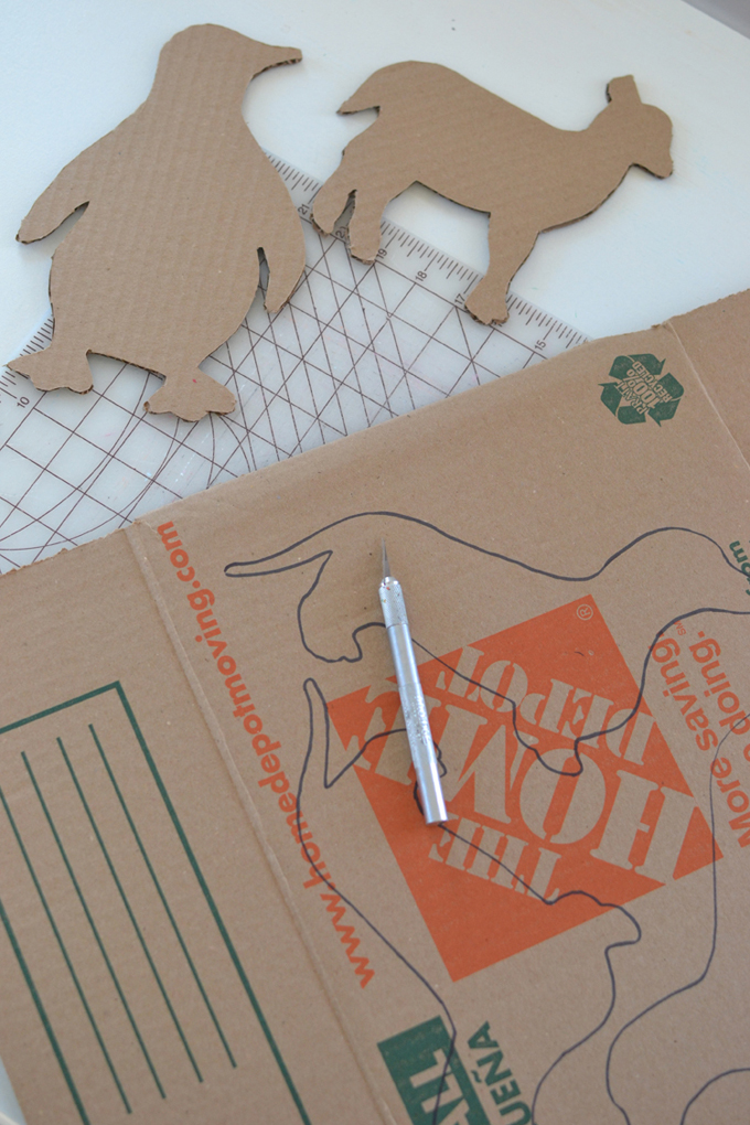 Patterned Cardboard Animals With Templates Artbar
