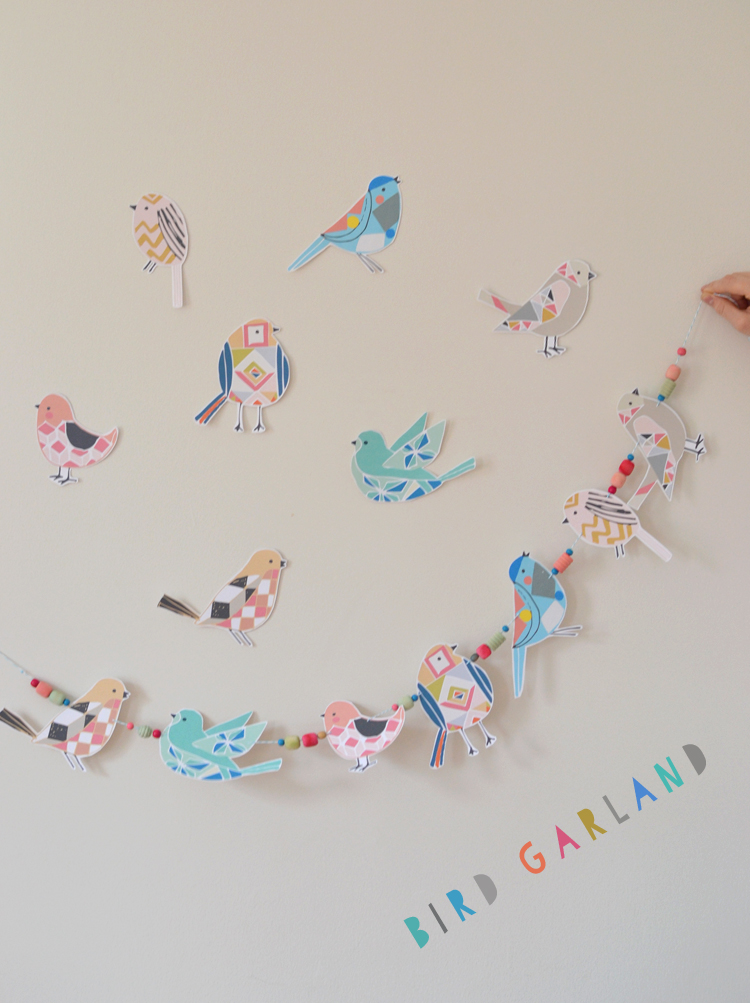 bird garland with Etsy templates   art bar