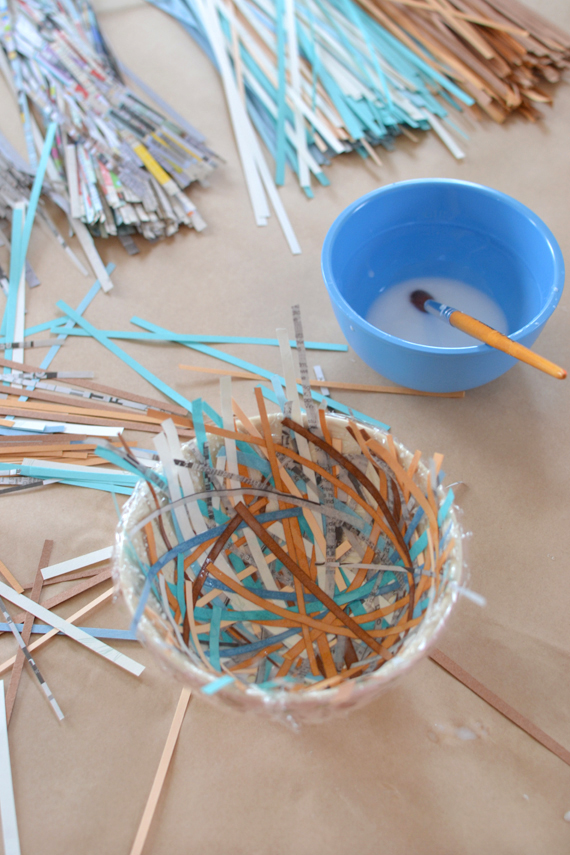 make bird nests from recycled paper | art bar