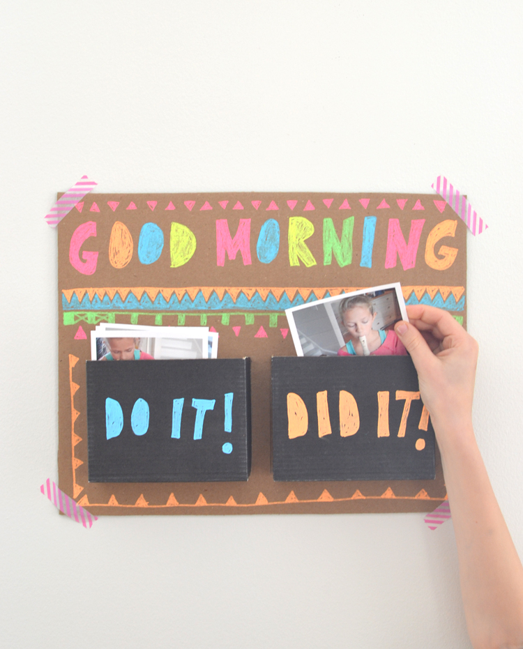 DIY good morning chart ~ teach kids to own their day | artbarblog.com