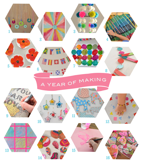 A year of making, guest posts by Art Bar Blog on Small for Big