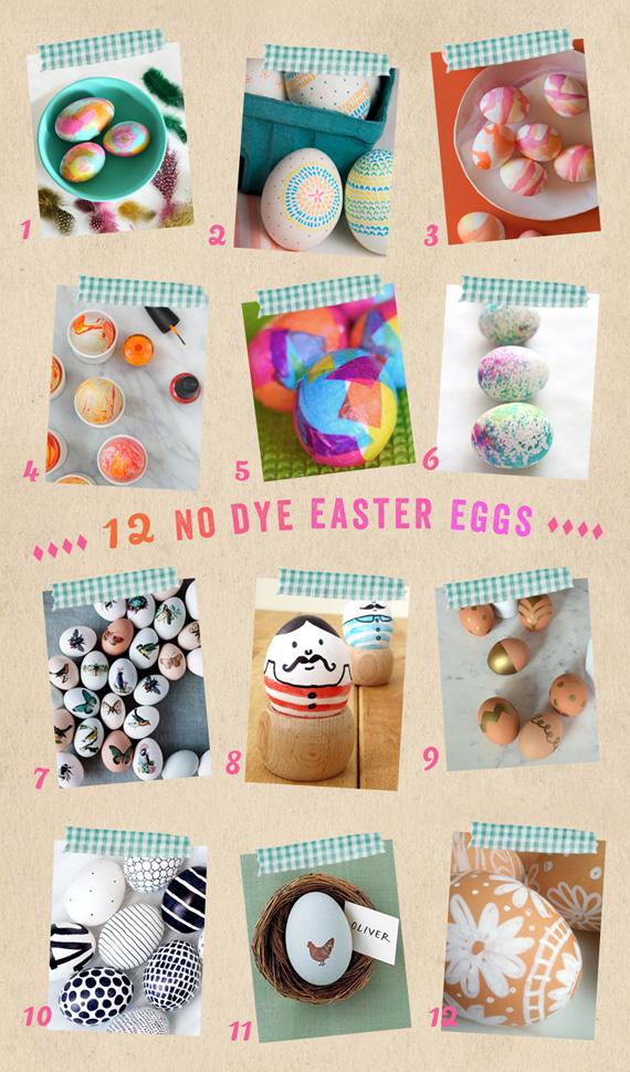 12 Easter Egg Ideas {no dye}
