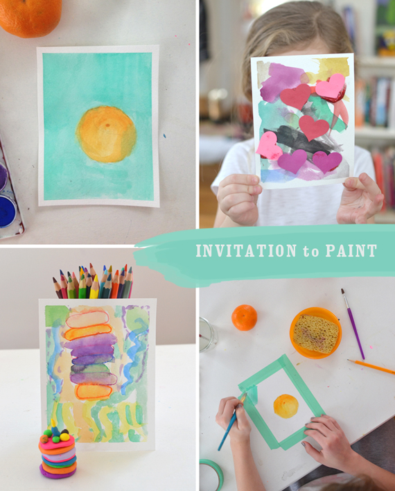 Simple invitation to paint for young children