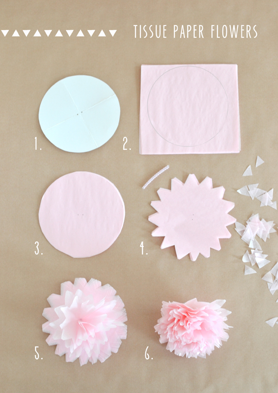 how to make simple tissue paper flowers Did you know that you can do exactly the same thing on a smaller scale and  make tissue paper flowers they are super easy and they turn out.