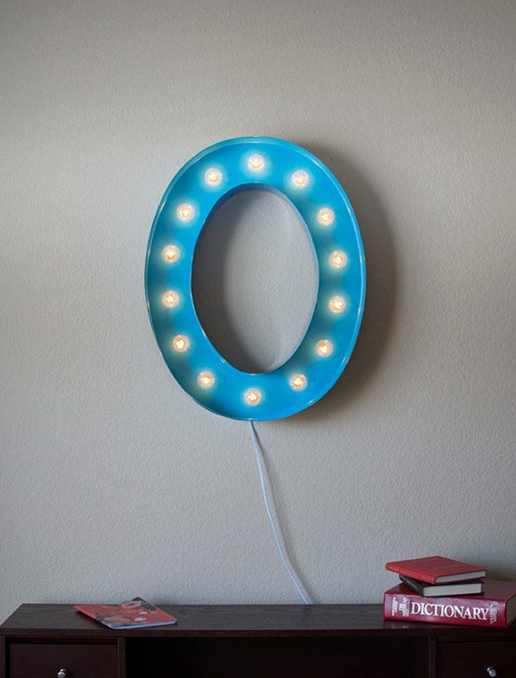 marquee light on Etsy