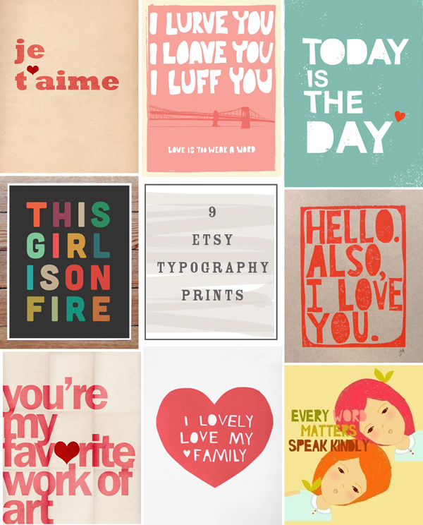 9 Etsy Typography Prints