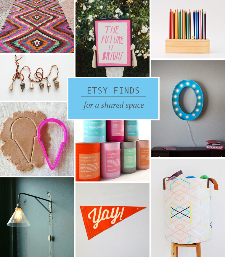 Etsy Finds for a Shared Space