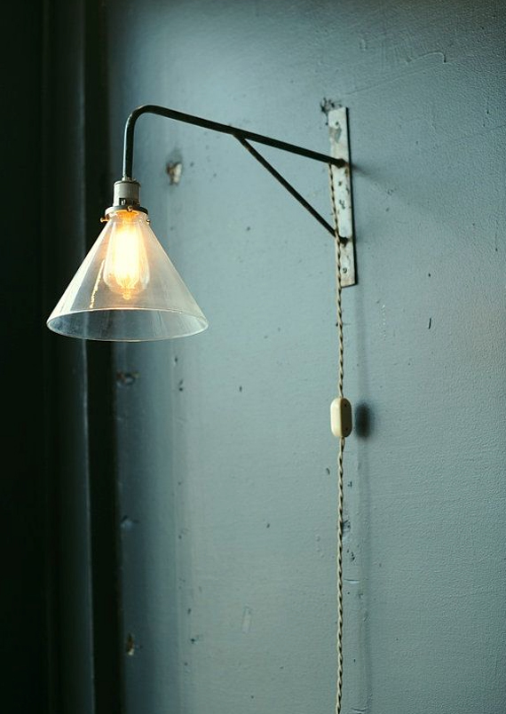 industrial wall light on Etsy