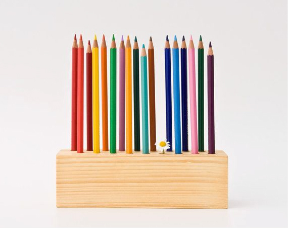 pencil holder on Etsy