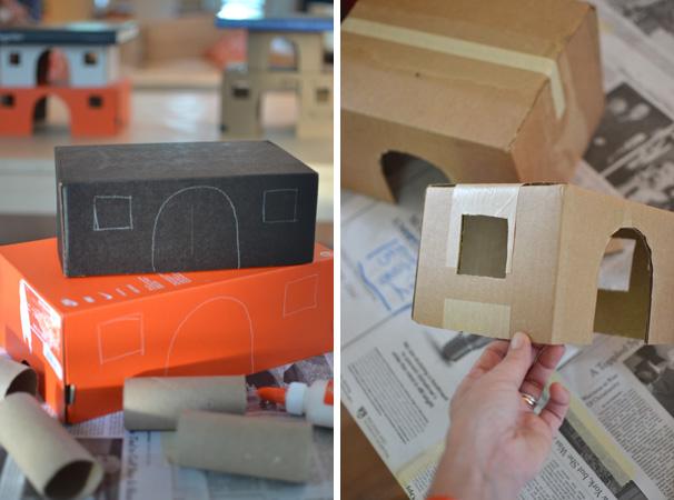 use shoeboxes to build a princess castle