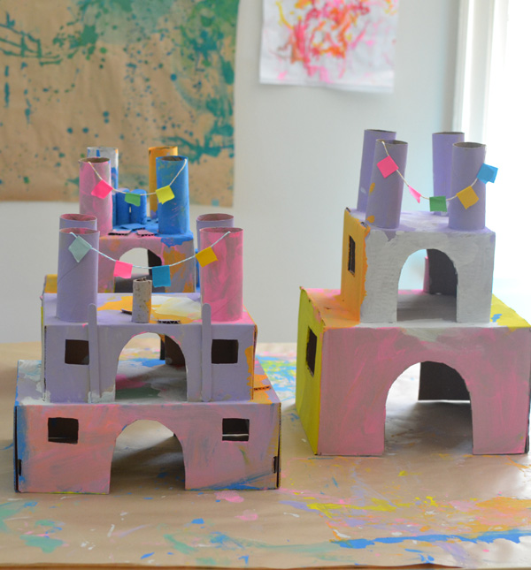 make these castles from recycled materials