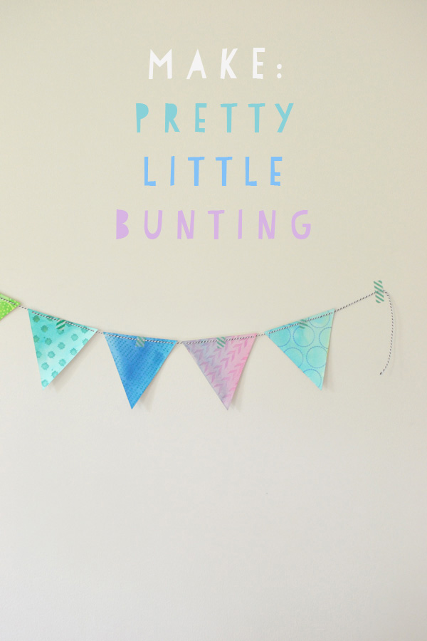 Pretty Little Bunting // Paint + Stamping