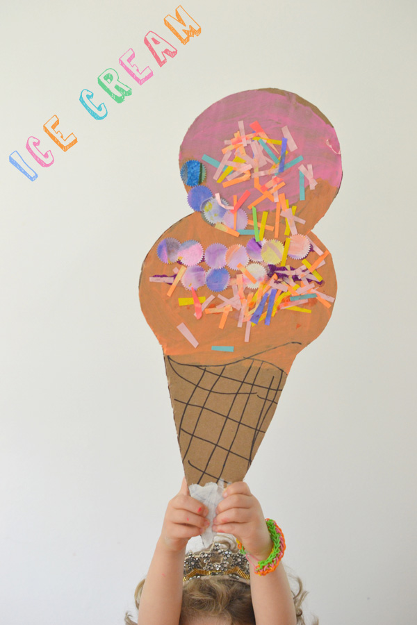 make these paint + collage cones ~ great summer art craft