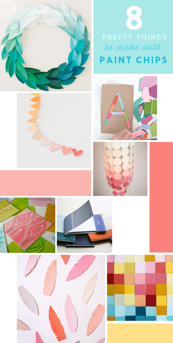 Make Pretty Things with Paint Chips