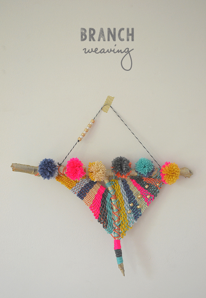 """Collect """"Y"""" shaped branches and turn them into beautiful weavings. Tutorial and video included."""
