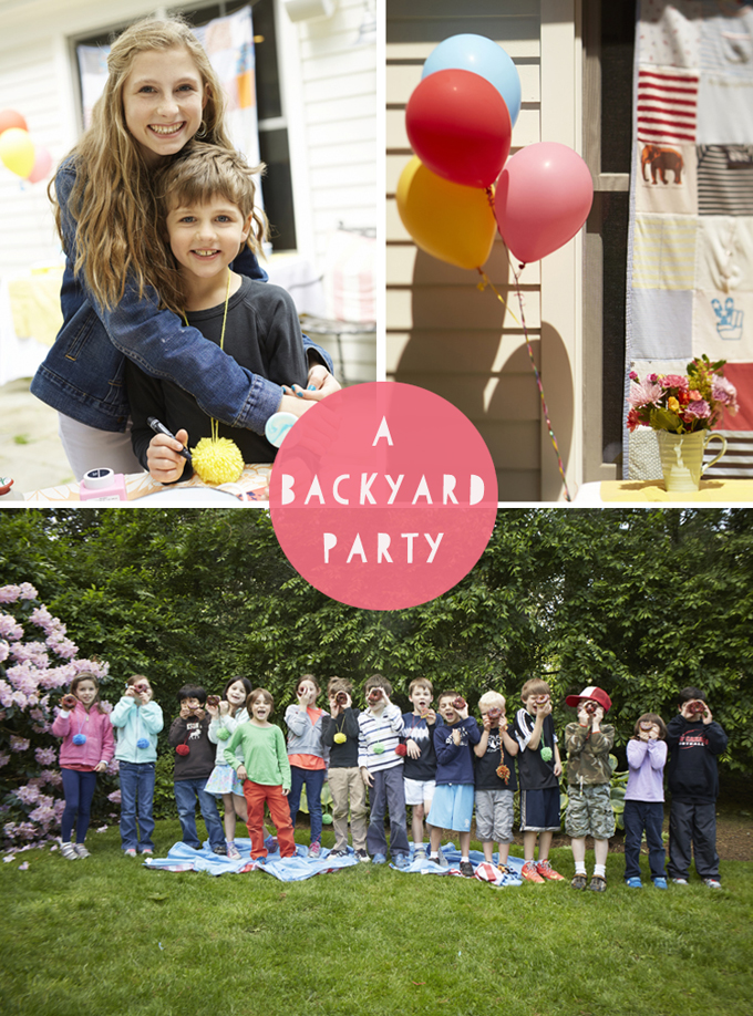 Plan a backyard birthday party with a list of activities.