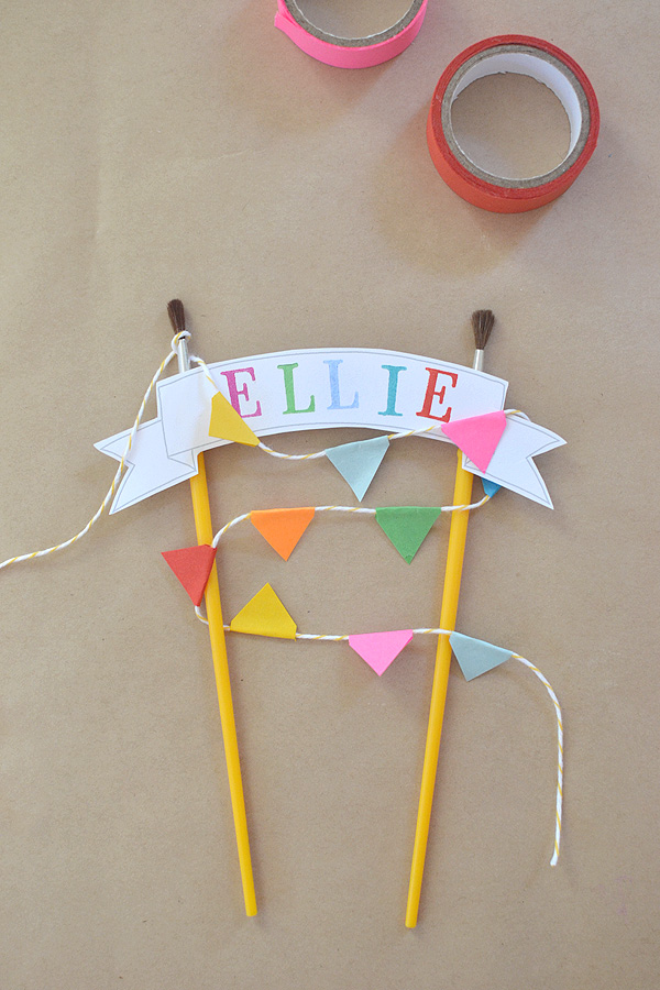 simple cake topper with an artsy flair