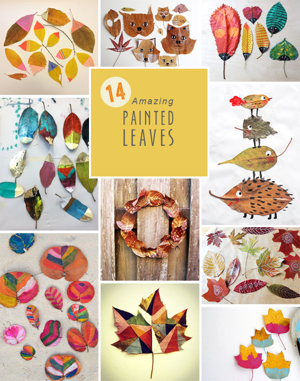 14 Amazing DIY Painted Leaves
