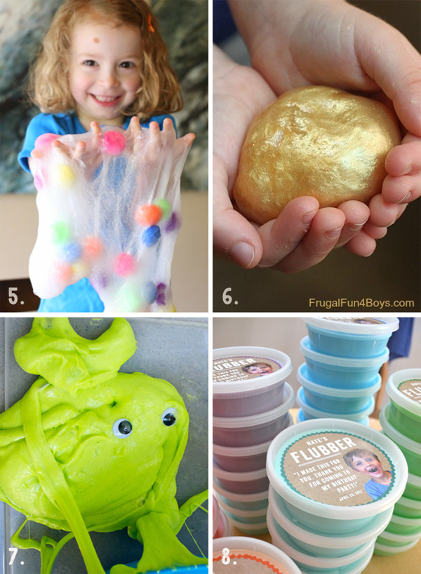 the best recipes from Pinterest for mushy, squishy sensory play