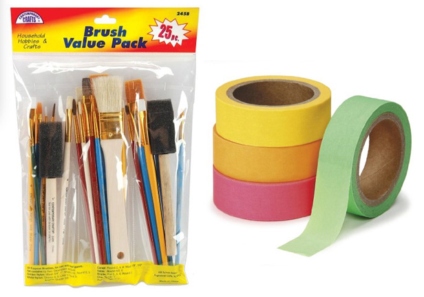 basic art supplies to stock for your home art area