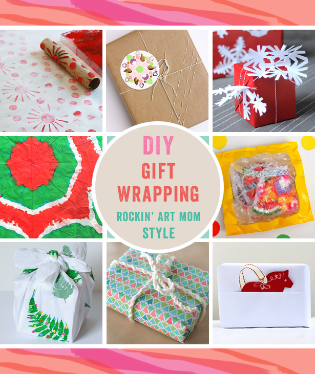 8 8 DIY Holiday wrapping paper ideas from the Rockin' Art Moms